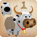 Icon for Animals Puzzle for Kids 🦁🐰🐬🐮🐶🐵