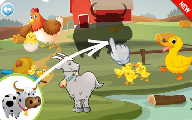 Animals Puzzle for Kids 🦁🐰🐬🐮🐶🐵 screenshot 2