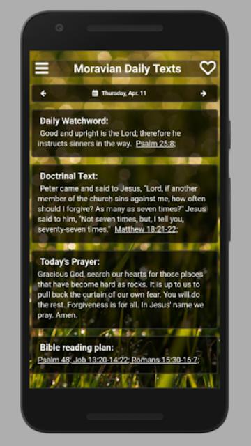 Moravian Daily Texts 2019 screenshot 1