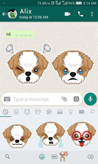 Shih Tzu Emoji for WhatsApp screenshot 3