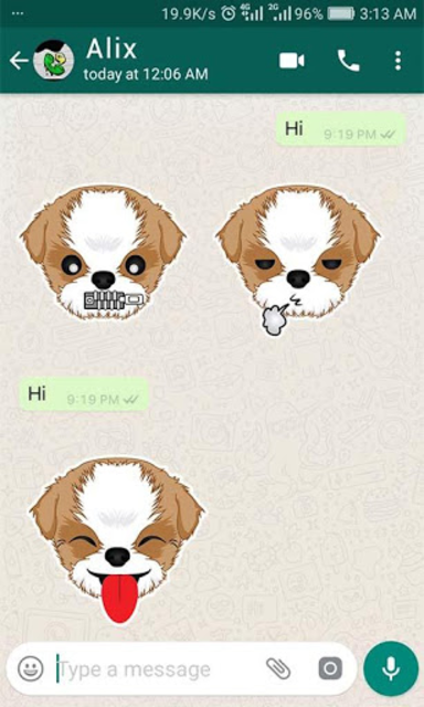 Shih Tzu Emoji for WhatsApp screenshot 4