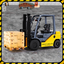 Forklift simulator warehouse