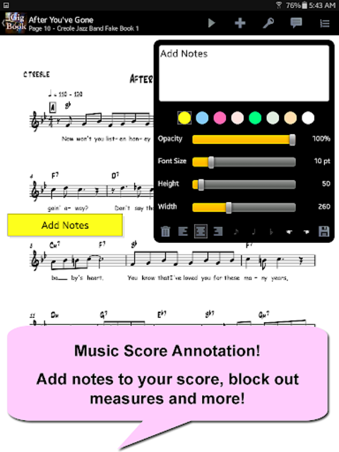 iGigBook Sheet Music Manager screenshot 8