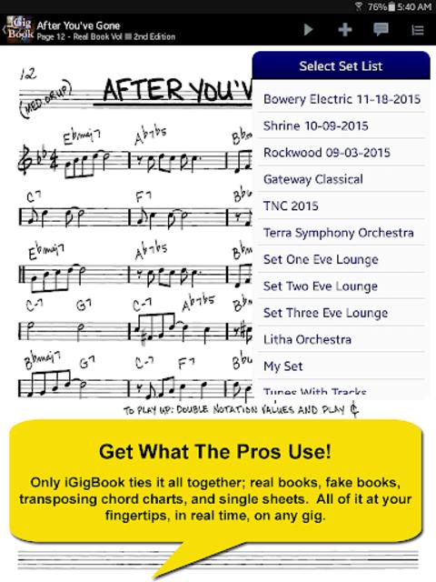 iGigBook Sheet Music Manager screenshot 9