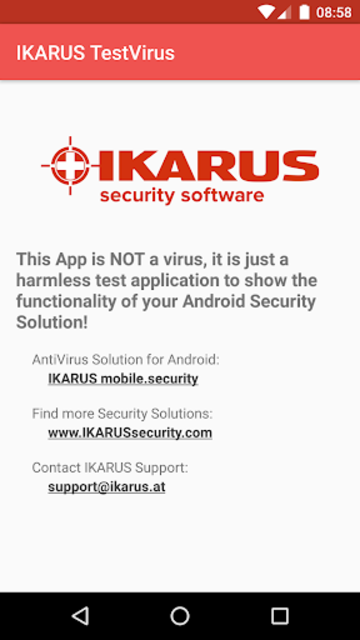 IKARUS TestVirus screenshot 1