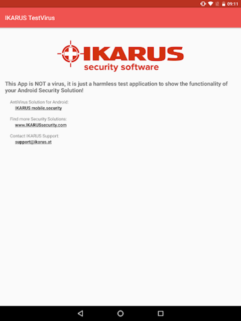 IKARUS TestVirus screenshot 4