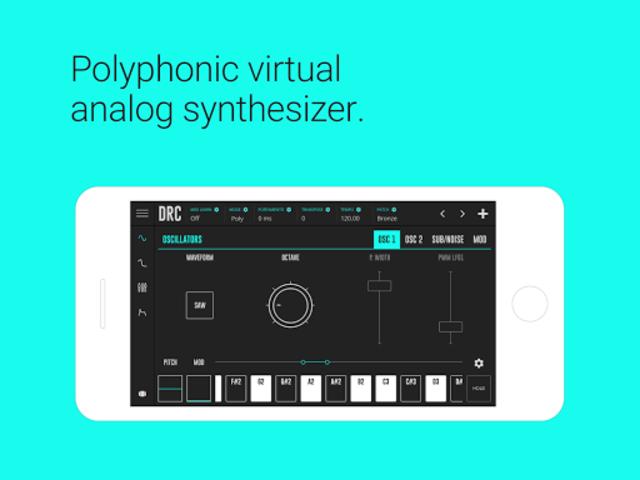 DRC - Polyphonic Synthesizer screenshot 1