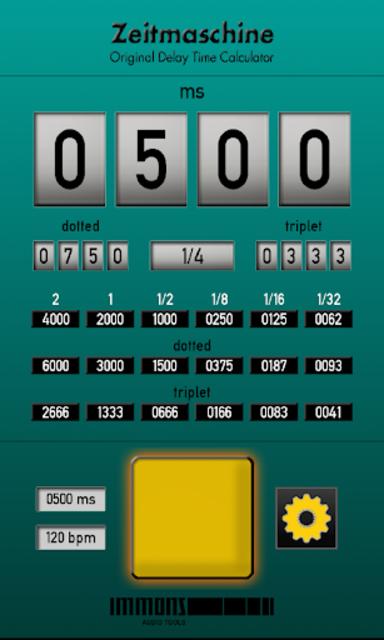 Zeitmaschine Delay Time Calc. screenshot 1