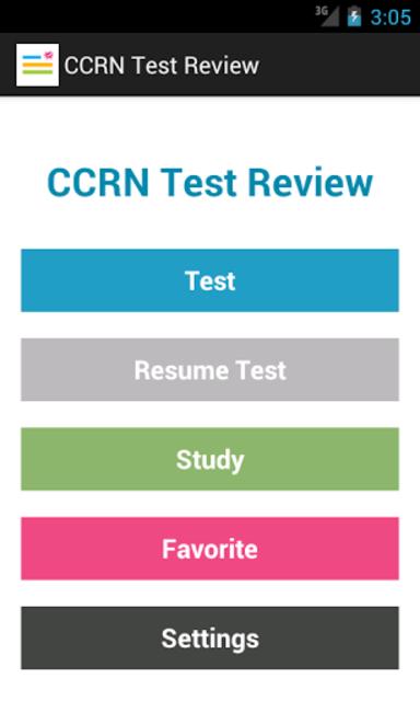 CCRN Test Review screenshot 1
