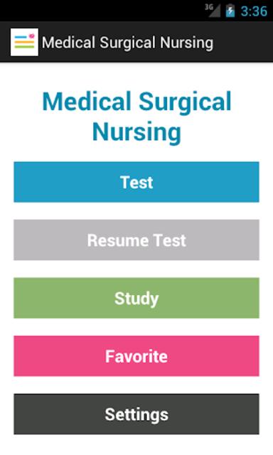 Medical Surgical Nurse Test screenshot 1