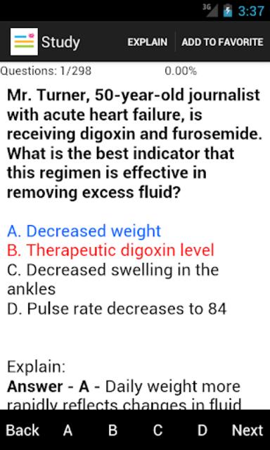 Medical Surgical Nurse Test screenshot 2