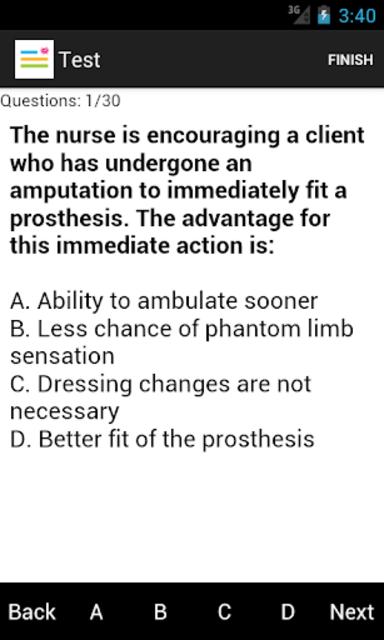 Medical Surgical Nurse Test screenshot 3