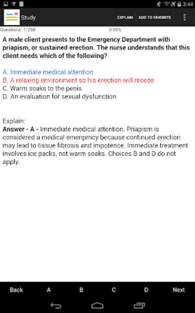 Medical Surgical Nurse Test screenshot 6