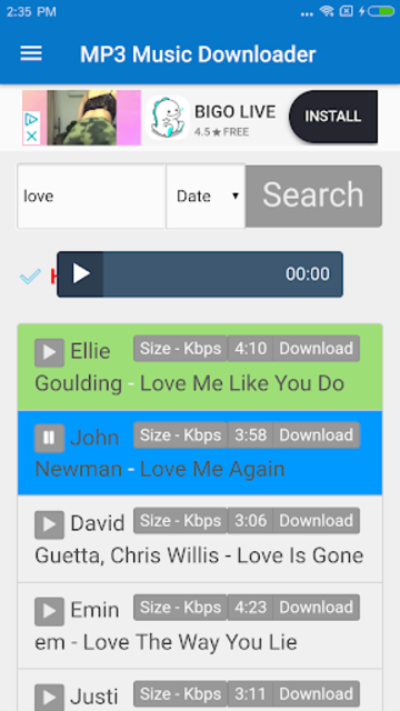 MP3 Music Downloader & Free MP3 screenshot 2