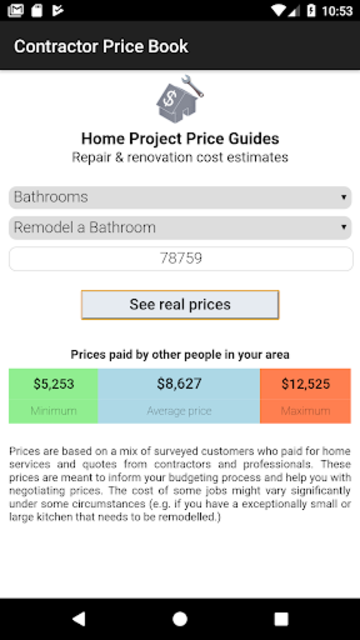 Contractor Price Book - Home repair & renovation screenshot 1