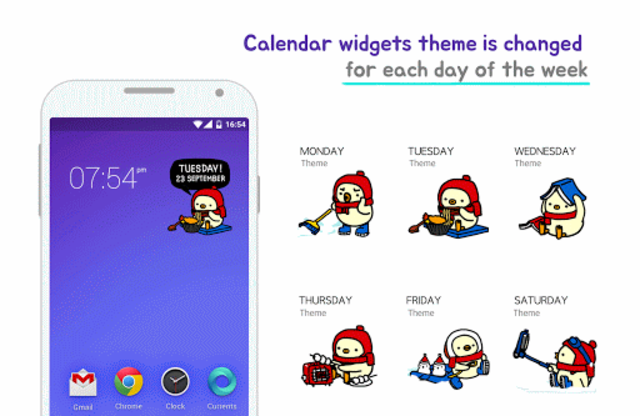 KUKEN♥calendar widget screenshot 1