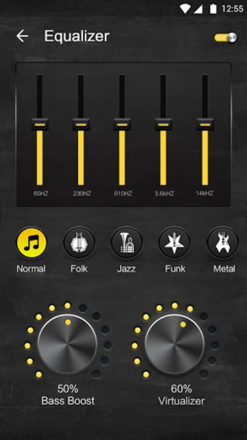 Offline Music Player - Volume Booster & Equalizer screenshot 3