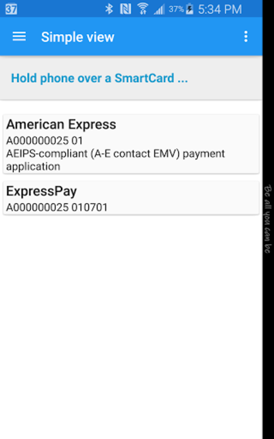 NFC Smart Card Info screenshot 2