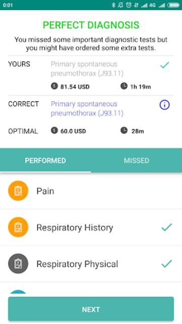 InSimu Patient - Diagnose Virtual Clinical Cases screenshot 7