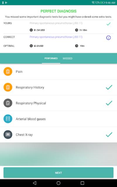 InSimu Patient - Diagnose Virtual Clinical Cases screenshot 12