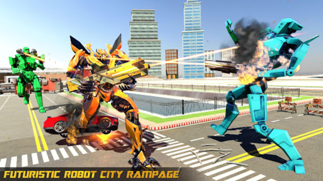 Police Helicopter Robot Car Transform Robot Games screenshot 6