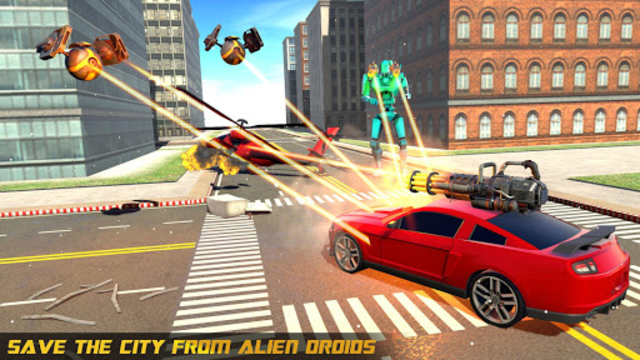 Police Helicopter Robot Car Transform Robot Games screenshot 7