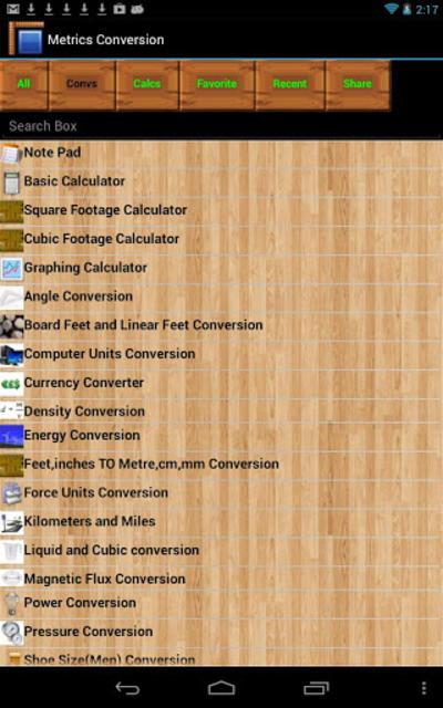 Metrics Conversion Key screenshot 1