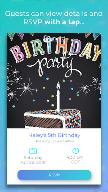 Invitd Party Invitations by Text and RSVP Planner screenshot 3