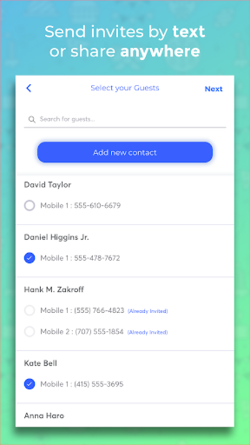 Invitd Party Invitations by Text and RSVP Planner screenshot 5