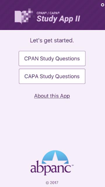 CPAN® / CAPA® Study App II screenshot 2