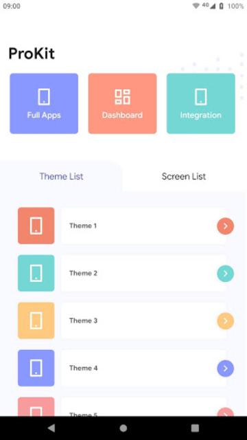 Prokit - Android App UI Design Template Kit screenshot 1