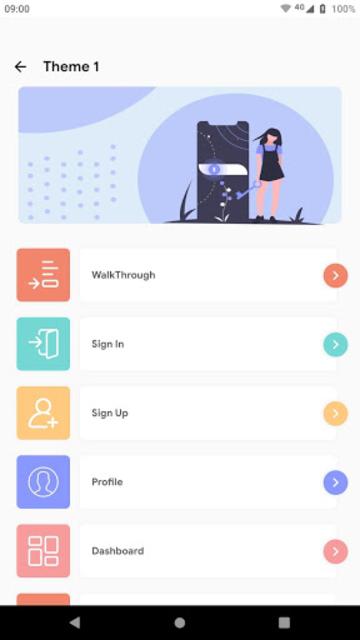 Prokit - Android App UI Design Template Kit screenshot 2