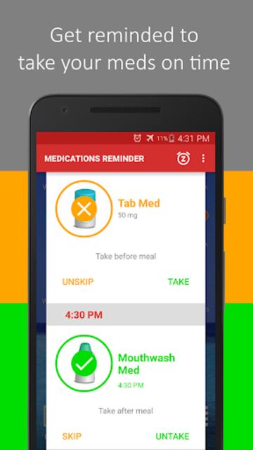 Medica: Pill Reminder, Tracker and Refill Reminder screenshot 1