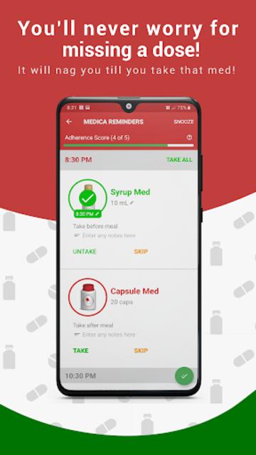 Medication Reminder, Pill Tracker & Refill: Medica screenshot 1