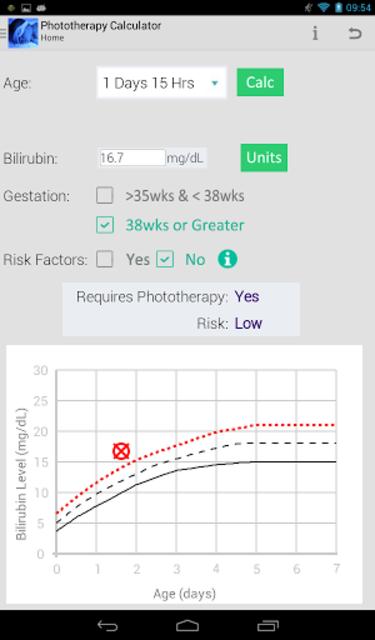 Phototherapy Calculator screenshot 5