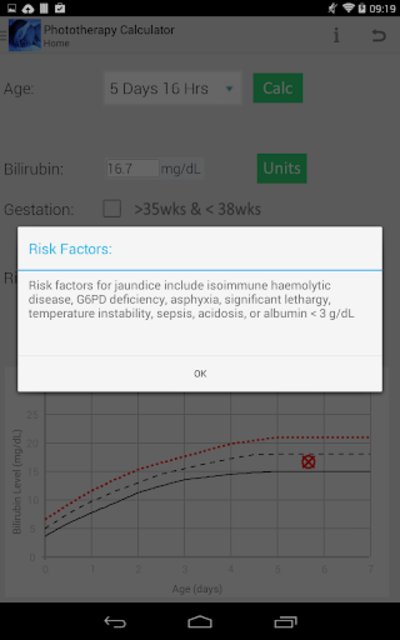 Phototherapy Calculator screenshot 8