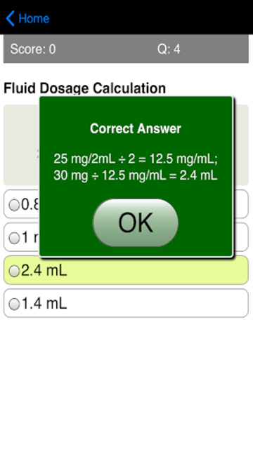 Dosage Calculations Quiz screenshot 11