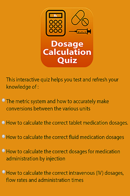 Dosage Calculations Quiz screenshot 13