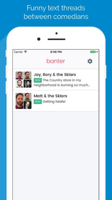 Banter - Comedians texting screenshot 1