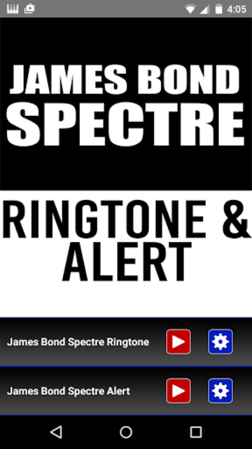 James Bond Spectre Ringtone screenshot 1