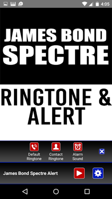 James Bond Spectre Ringtone screenshot 2