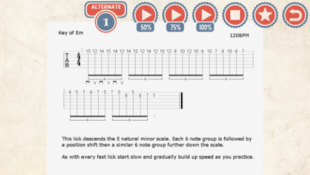 85 Metal Guitar Licks screenshot 2