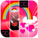 Icon for Rainbow Pink Heart Piano Tiles