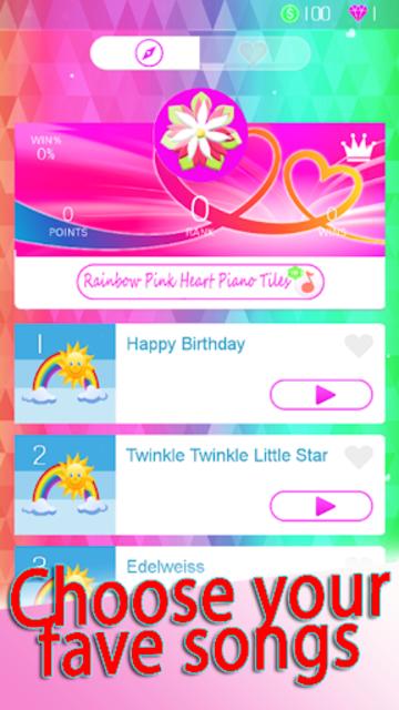 Rainbow Pink Heart Piano Tiles screenshot 3