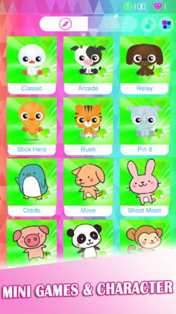 Rainbow Pink Heart Piano Tiles screenshot 6