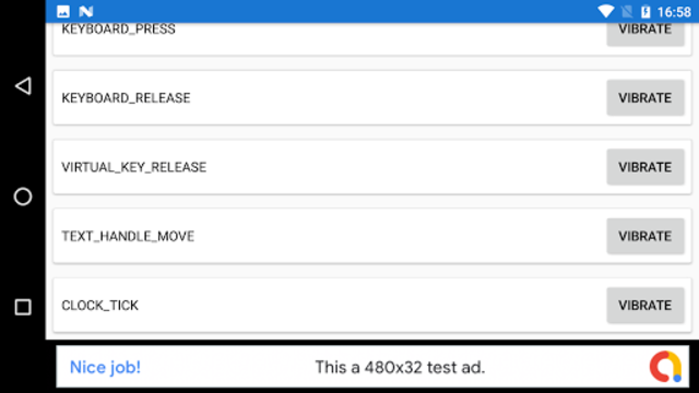 Haptic Feedback Checker screenshot 2