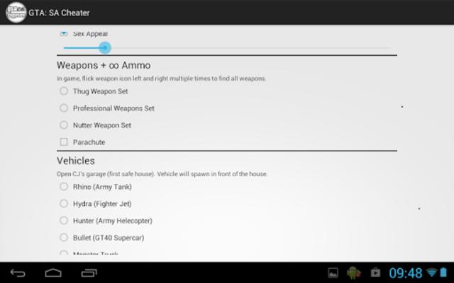 JCheater: San Andreas Edition screenshot 6