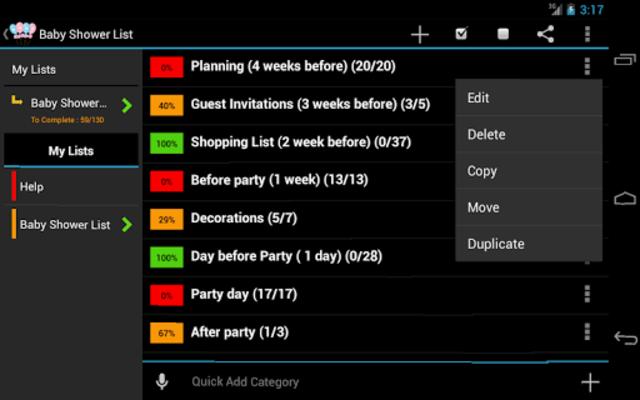 Baby Shower Planner screenshot 1