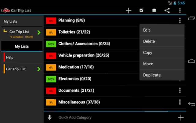 Car Trip Planner screenshot 1