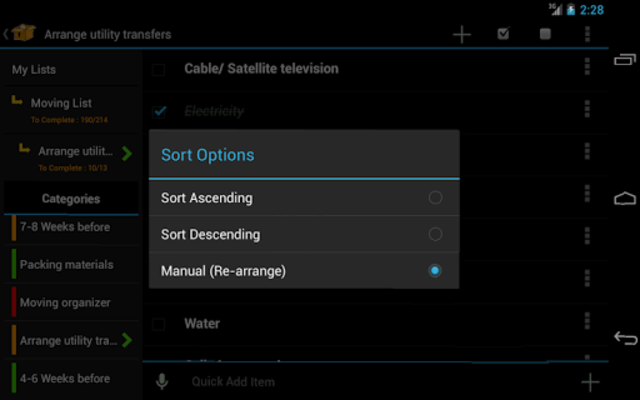 Moving Planner screenshot 5